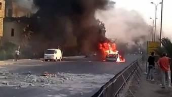 Feuer und Rauchschwaden in Syrien