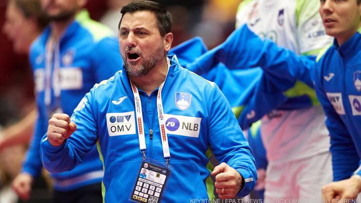 Ljubomir Vranjes coacht mit viel Enthusiasmus. Reicht es für ihn und die Slowenen gar zum EM-Titel?