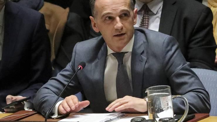 Der deutsche Aussenminister Heiko Maas setzt sich im UNO-Sicherheitsrat für stärkere Bemühungen um eine atomwaffenfreie Welt ein.
