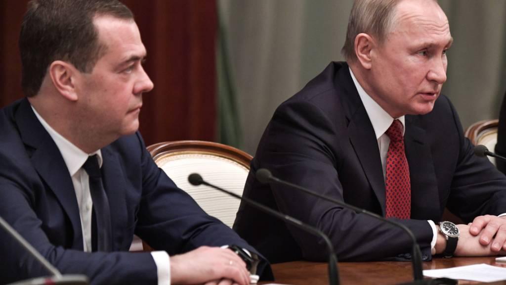 Regierungschef Medwedew tritt zurück