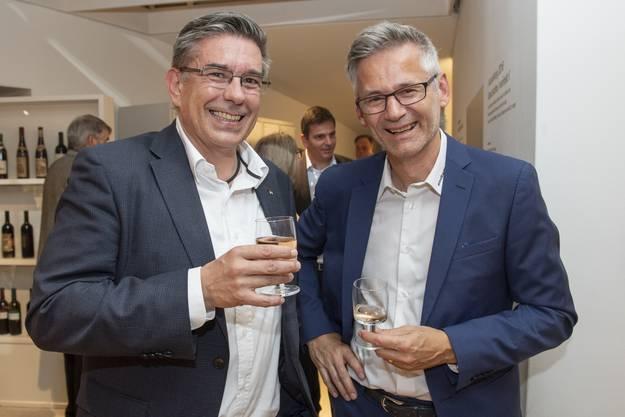 Ammänner unter sich (v. l.): Markus Schneider, Baden, und Pius Graf, Ennetbaden.