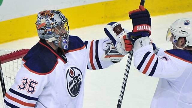 Matchwinner gegen Montreal: Edmonton Goalie Nikolai Chabibulin