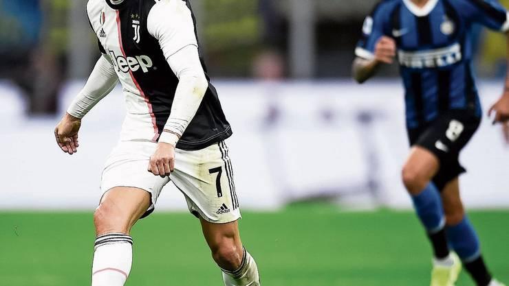 Inter gegen Juve mit Cristiano Ronaldo findet vor leeren Rängen statt.