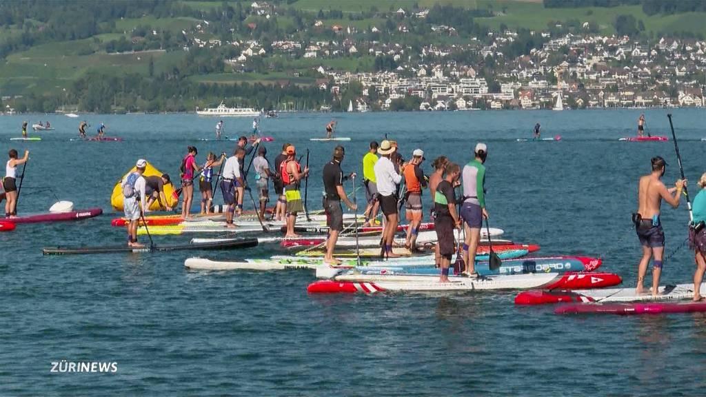 Stand-up-Paddeln: Erstmals Schweizer-Meisterschaften auf dem Zürichsee