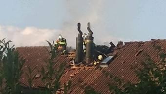Dachstock-Brand in einem Einfamilienhaus in Mägenwil
