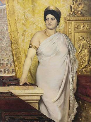 Kaiserin Messalina, eine Frau mit ungewöhnlichen Gelüsten, gemalt von Peder Severin Krøyer (1881).