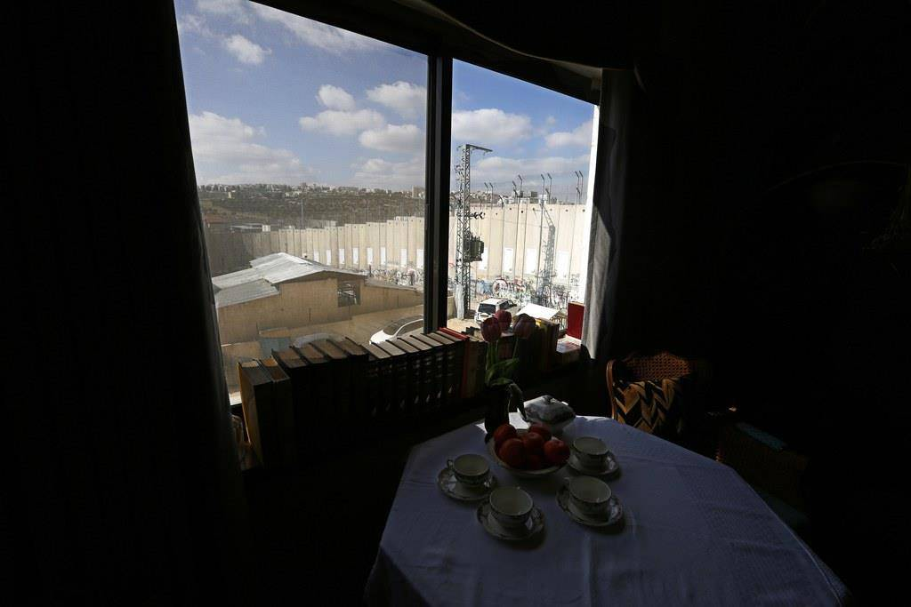 Das Grenzmauer-Hotel in Bethlehem (© Keystone)