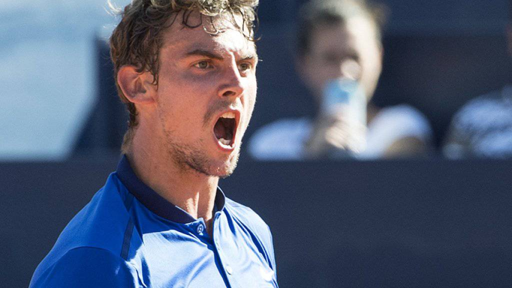 Emotionaler Sieg: Henri Laaksonen erreichte in Gstaad nach einem dramatischen Finale die 2. Runde