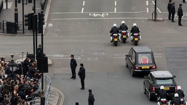 Teure letzte Fahrt: Margaret Thatchers Trauerfeier kostet über 5 Millionen Franken (Archiv)