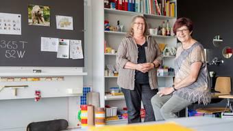 Madlen Bärtschi (l.) und Margrit Wahrstätter haben die Heilpädagogische Schule 13 Jahre geleitet. Sandra Ardizzone