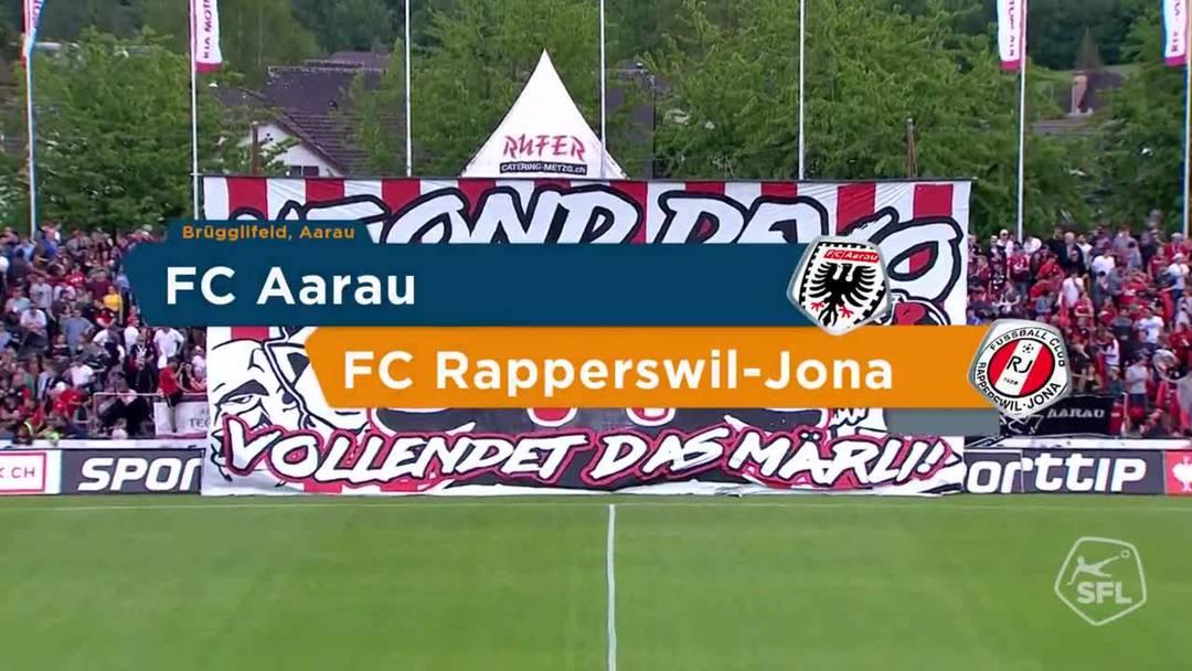 Challenge League, 2018/19, 36. Runde, FC Aarau – FC Rapperswil-Jona: Die Highlights des 1:0-Sieges