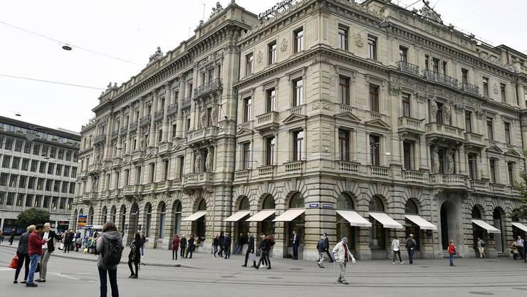 Der prestigeträchtige Hauptsitz der Credit Suisse am Zürcher Paradeplatz, der 1876 gebaut wurde.