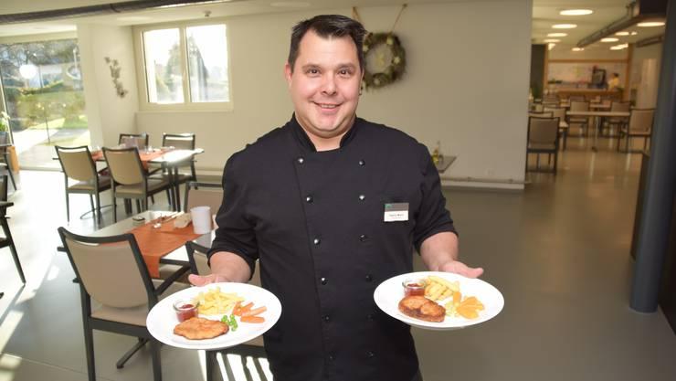 Küchenchef Patrick Monn gibt sich besonders Mühe, dass auch die pürierten Gerichte ansehnlich daherkommen.