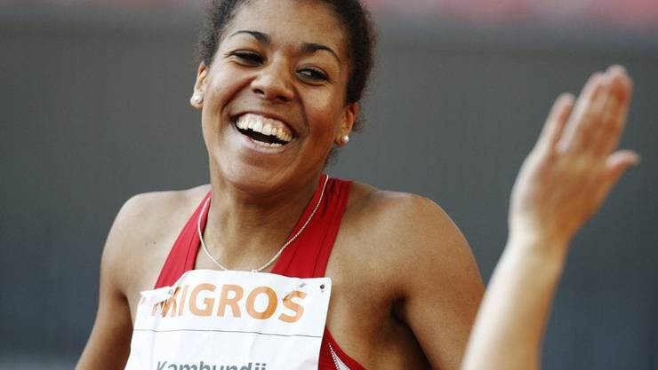 Kambundji an den Schweizer Meisterschaften 2009.