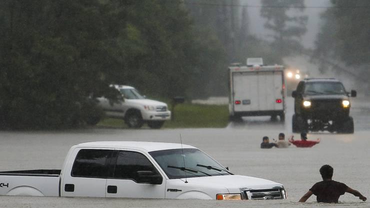 Wie im ganzen US-Bundesstaat Texas stehen auch in Magnolia die Strassen unter Wasser. (Archiv)