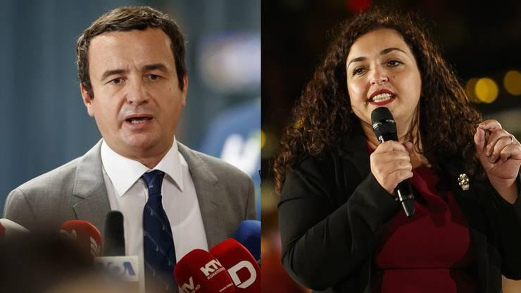 Albin Kurti und Vjosa Osmani, die neuen beiden starken Figuren im Kosovo.