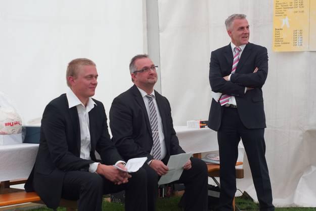 Für ein Jahr übernahmen sie zu dritt das Präsidium und führten so den Verein durch das Jubiläumsjahr. Christian Wichmann, Stefano Gortana und Chrstian Arrigoni (v.l.n.r)
