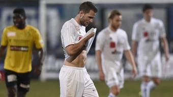 Enttäuschung bei Roman Buess (Mitte) vom FC Wohlen.