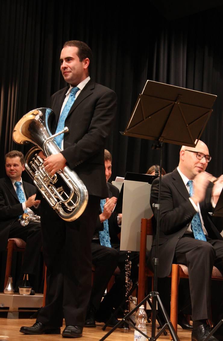 Präsident Daniel Schrenk brillierte mit einem Euphonium-Solo.