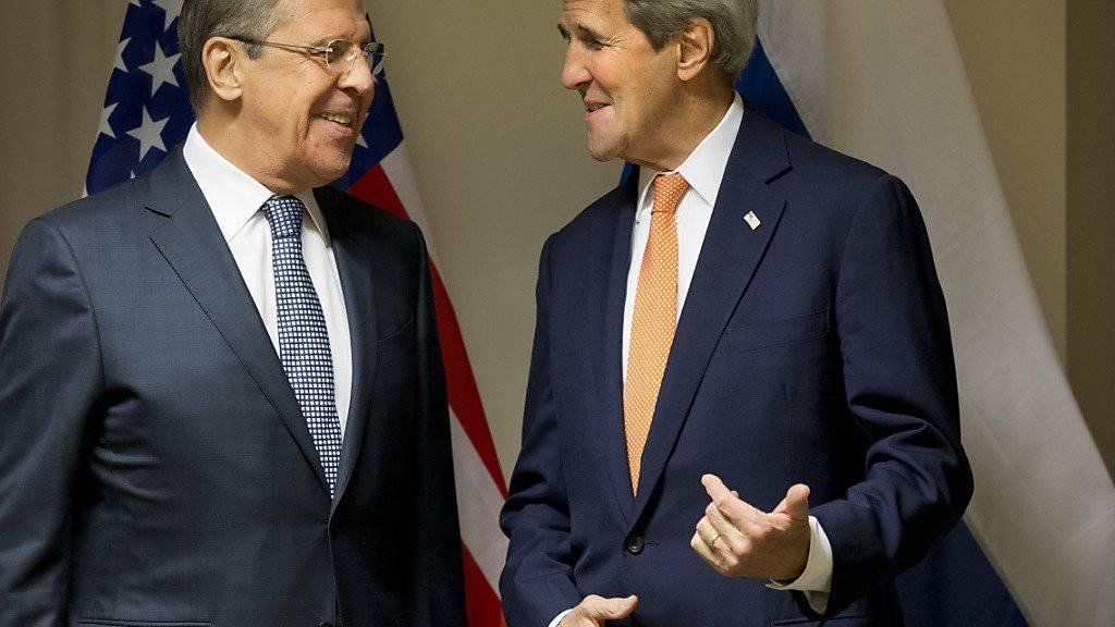 Der russische Aussenminister Lawrow (links) und US-Aussenminister Kerry in Zürich.