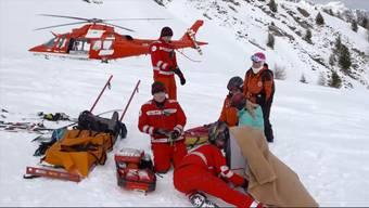 So häufig mussten die Helis noch nie an Neujahr ausrücken. Vor allem Wintersportler hielten die Einsatzkräfte auf Trab.