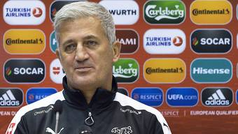 Der Schweizer Nationalcoach Vladimir Petkovic 24 Stunden vor dem Spiel gegen Andorra