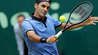 Startet am Montag in Halle in seine Rasensaison: Roger Federer