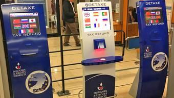 So sehen die Automaten für die Mehrwertsteuererstattung aus.