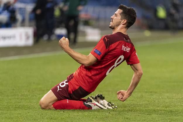 Nach seinem Treffer gegen Deutschland gelingt Remo Freuler auch gegen Spanien ein sehenswertes Tor.
