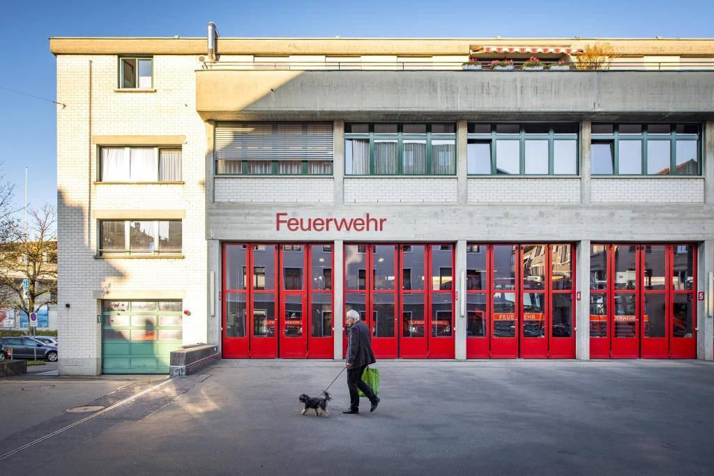 Das Feuerwehrdepot in St.Gallen (© Urs Bucher/St.Galler Tagblatt)