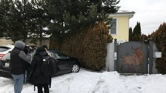 Das Anwesen des mutmasslichen Millionenbetrügers in Dottikon wird versteigert. Interessenten und Gwundrige konnten die Immobilie am Mittwoch begutachten.