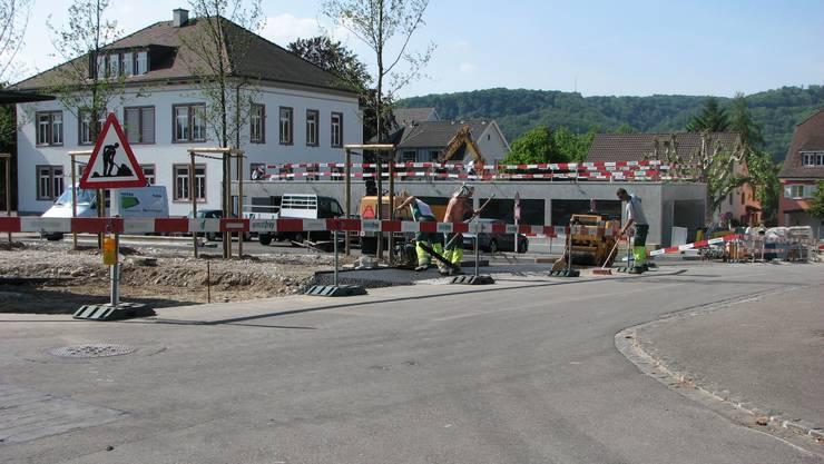 Fast vollendet: Das «Parking Dorf» mitten in Kaiseraugst.