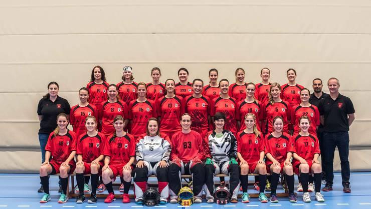 Mit einem Sieg haben die Damen I des Team Aarau die Saison beendet. Nach dem vorzeitigen Abstieg vor einer Woche in Seftigen feierten die Adlerinnen zum Abschluss im Derby gegen Lok Reinach einen klaren 6:1-Prestigeerfolg (Foto: Jürg Sollberger).