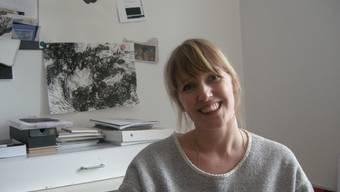 Sabrina Tiller in ihrem Atelier in Biberist. Dank des Förderpreises kann sie sich eine Zeit lang ihren künstlerischen Interessen widmen.