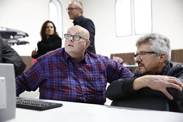 Dagobert Cahannes und Urs Mathys, stv. Chefredaktor Solothurner Zeitung.