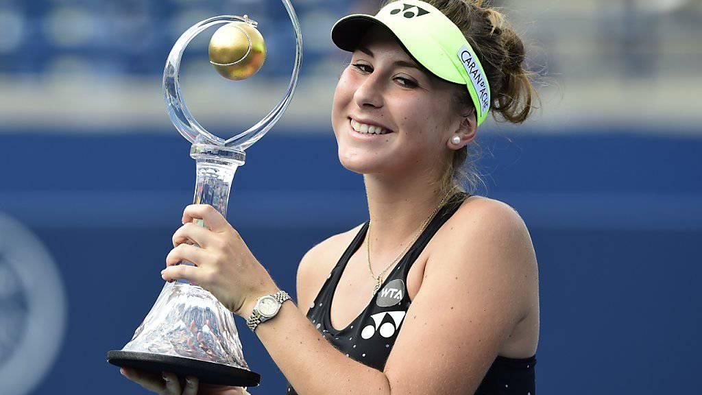 Belinda Bencic gewann 2015 das Turnier von Toronto im Final gegen Simona Halep