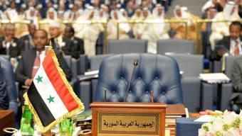 Der Sessel der syrischen Delegation blieb auch dieses Jahr leer