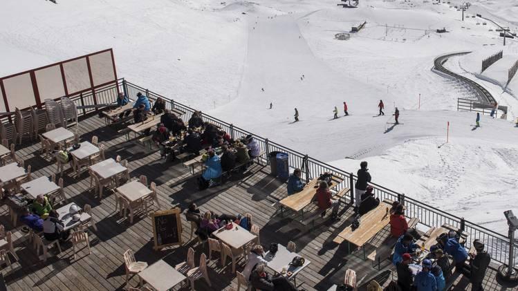 Terasse Graubünden Skigebiet