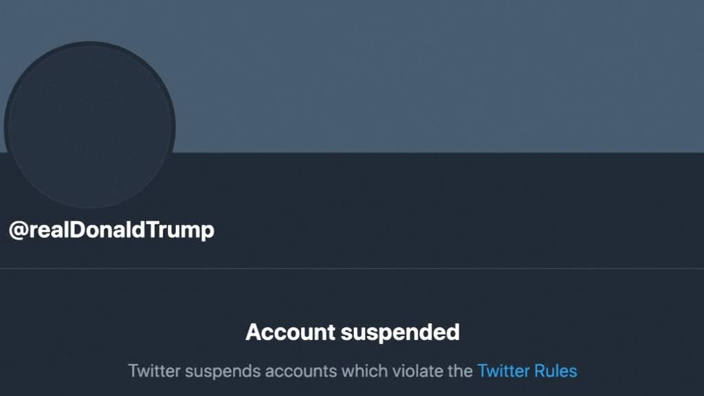 «Account gesperrt»: Twitter blockiert Trumps Konto dauerhaft