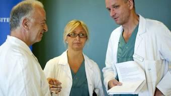 Das schwedische Team: Andreas G. Tzakis, Pernilla Dahm-Kaehler und Mats Brannstrom (v.l.)
