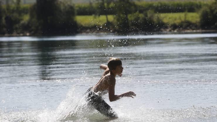 Abkühlung im Wasser
