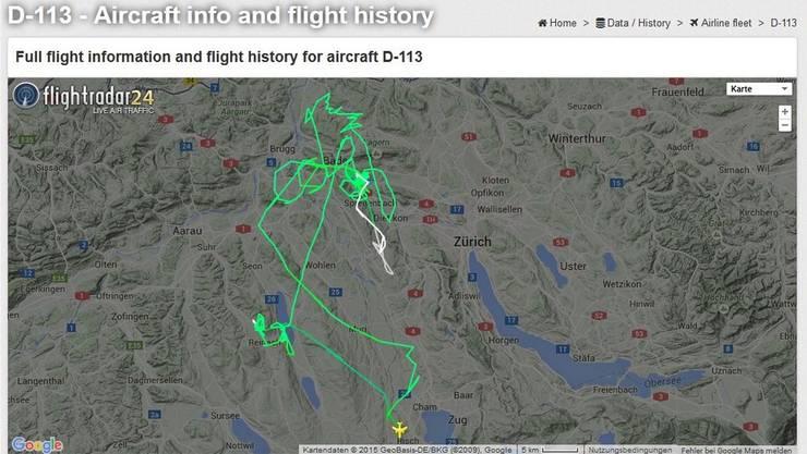 Die Maschine flog über die Region – und weckte die Bewohner auf. zvg/screenshot