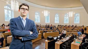 Aurel Gautschi, Präsident der Aargauer Schülerorganisationen zum geplanten Stipendiengesetz: «Man macht die Bildung für Personen aus weniger vermögenden Familien unzugänglicher und trifft damit genau die schwächsten in unserer Gesellschaft.»