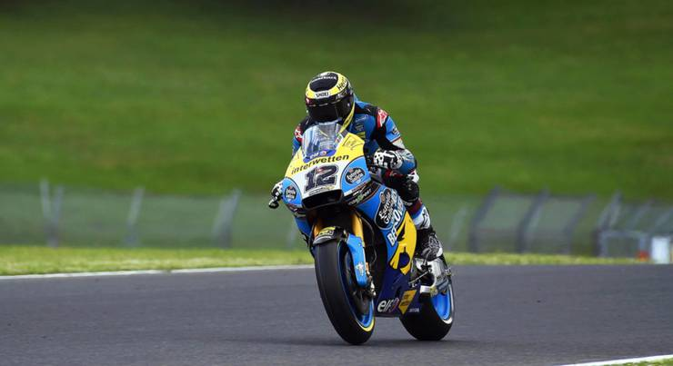 Lange konnte sich Tom Lüthi nicht auf seinem Motorrad halten. In Mugello war bereits in der dritten Runde Schluss.