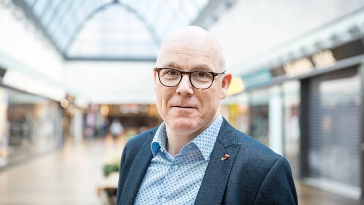 Patrick Stäuble, Leiter des Shoppingzentrums, geriet über das Wochenenende in einen Shitstorm.