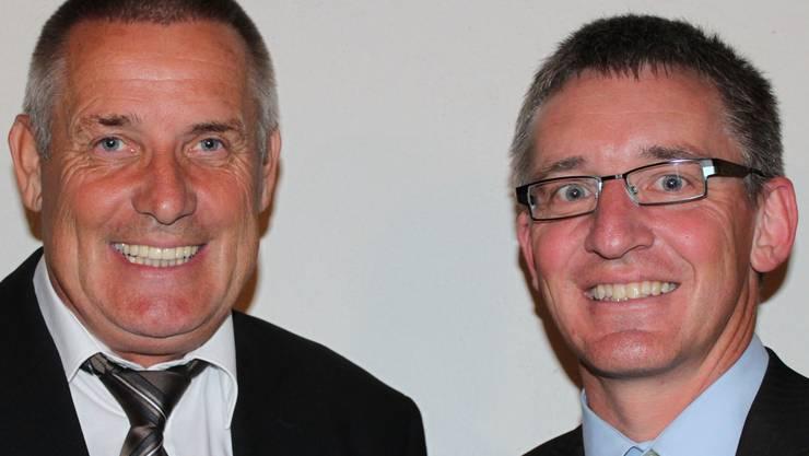 Vereinspräsident Heinz Blatter (links) und Heimleiter Daniel Büchi.MSC