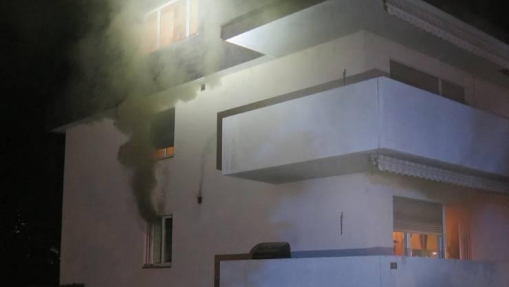 In Therwil kam es in einer Wohnung im Hochparterre zu einem Küchenbrand.