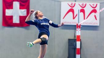 Andrea Gerber und ihre Teamkolleginnen vom STV Oberentfelden-Amsteg wollen im Halbfinal gegen Diepoldsau druckvoll aufspielen.
