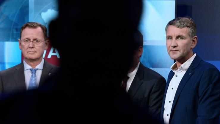 Ministerpräsident Bodo Ramelow (Die Linke) und AfD-Chef Björn Höcke.