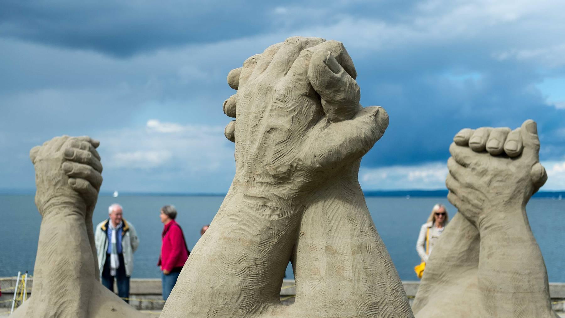 In Rorschach entstehen wieder Skulpturen aus Sand. (Archivbild)